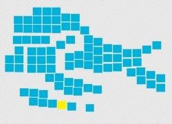 forma della mappa di venezia fatta da tanti quadrati