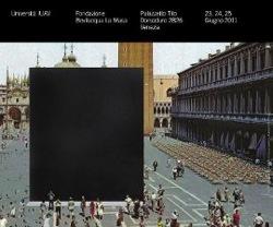 locandina di Back to Black con la proposta di installazione di un'opera di Gregor Schneider in Piazza San Marco