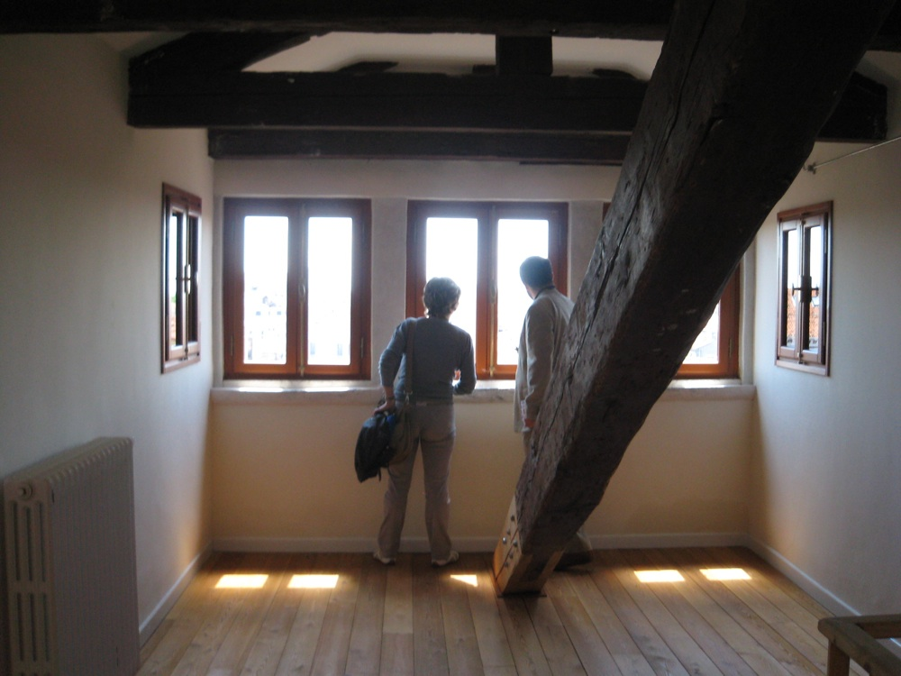 interno di uno degli studi di palazzo Carminati