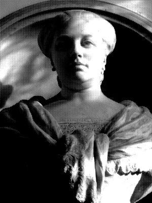 busto di marmo della duchessa Felicita Bevilacqua posto a Ca' Pesaro