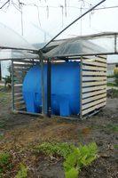 lo strumento utilizzato per raccogliere l'acqua piovana durante il workshop
