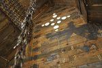interno decorato di una casetta di legno