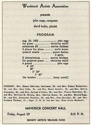 programma di Woodstock del 29 agosto 1952