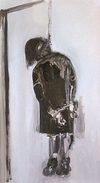 disegno di una bambina impiccata