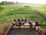 foto di gruppo sulla terrazza