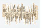 collage di strisce di uno spartito musicale che unite formano una canzone