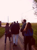 foto di gruppo al tramonto