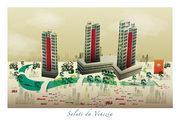 cartolina di Venezia stilizzata