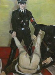 immagine rappresentante un'atto di violenza sessuale tra una donna e un soldato
