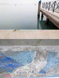 un pontile di venezia con graffiti