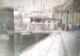 immagine sfuocata di un pontile di venezia