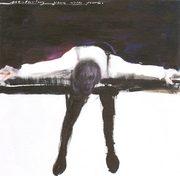 disegno di donna distesa su fondo nero