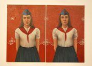 olio su tela raffigurante due ragazze di Ivana Bukovac