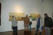 visitatori alla mostra di Lucio Schiavon