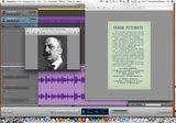 immagine di una schermata di computer con gli elementi grafici e sonori che identificano la performance audio